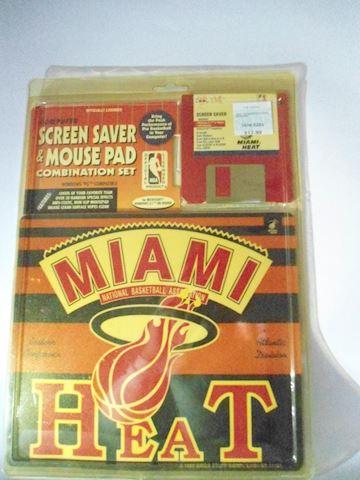 Miami Heat 1995 Vintage disc/mouse pad.