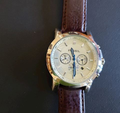 FOSSIL FS-4248 MENS BROWN LEATHER NEW BATTERY