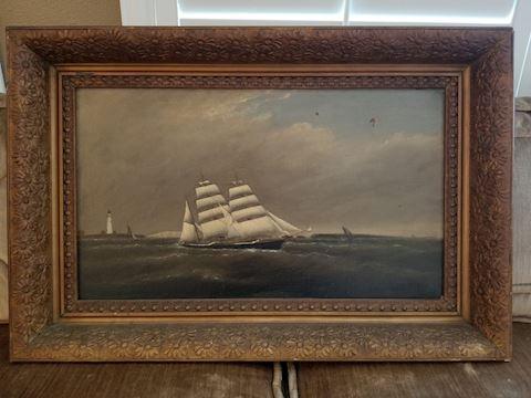 Clement Drew Original Clipper Ship Oil Painting