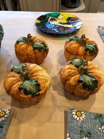 4 Ceramics pumpkins