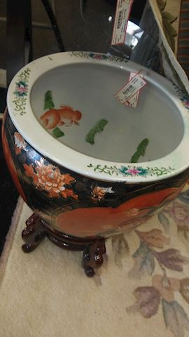 Oriental Fishbowl with Stand - #3460