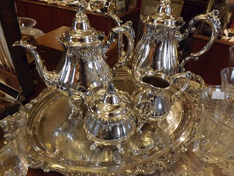 Wallace Baroque Plate Silver Tea Set Tray