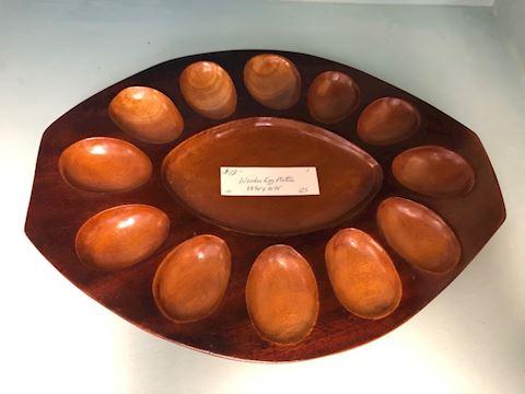 Wood Egg Plate
