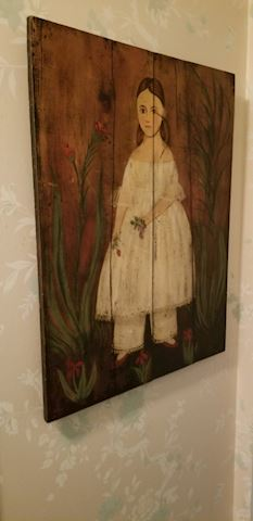 """Hall  104   """"Girl in White Dress"""" Painting"""