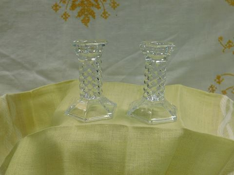Towle Lead Crystal Candle Sticks pair