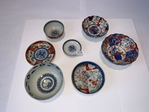 Lot 0028 Imari Bowls 7 piece set