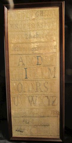 1832 Sampler, Framed
