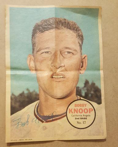 Old 1967 Bobby Knoop Topps Poster Insert #17