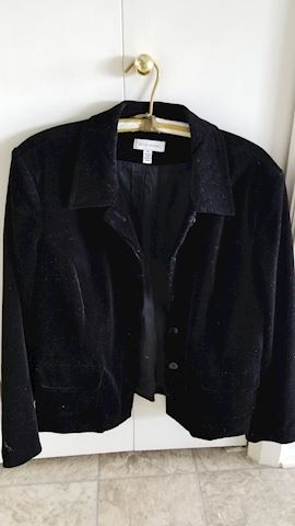 Women's black velvet jacket by David Brooks