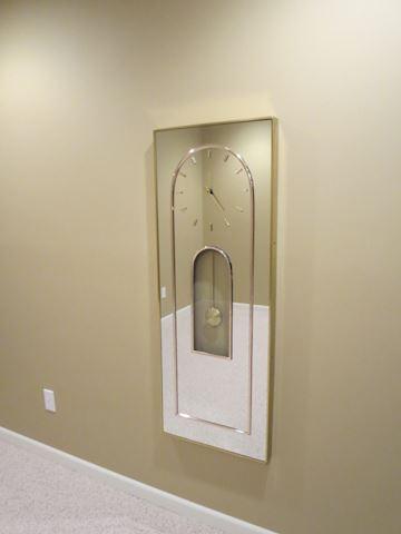 Contemporary MCM Mirror Wall Clock