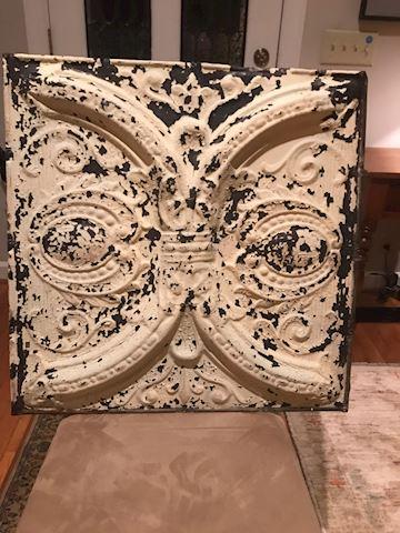 Decorative Old Tin Panel