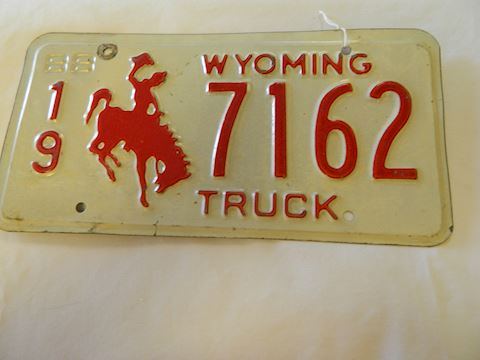 1988 WY Truck License Plate