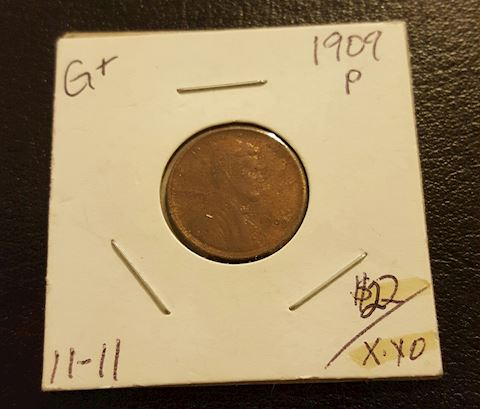 1909 P Key Date First Year  Wheat Cent Penny