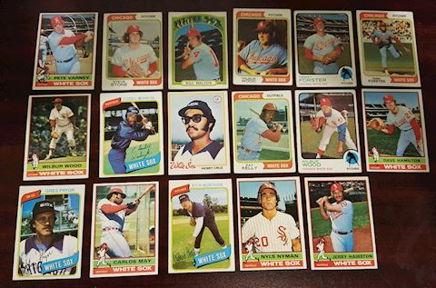 Lot of 17 Vintage Chicago White Sox Baseball Cards