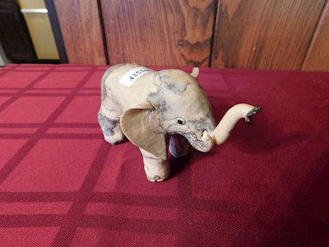 168 Marbleized Elephant Figurine