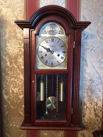 Waltham 31 Day Windup Wall Clock Pendulum w/ Key