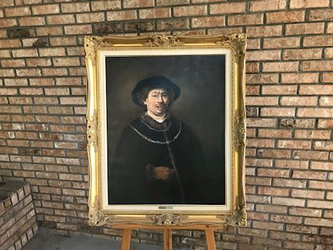 Rembrandt circa 1643reproduction by Lou Roussano