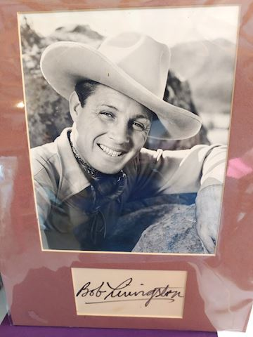 Bob Livingston, Three Mesquiteers Autograph