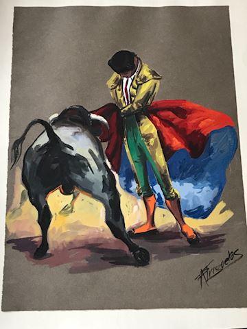 Matador Original Watercolor on Craftpaper