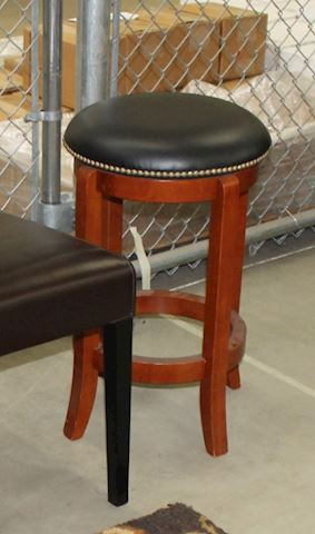 Cordova Leather Swivel Barstool