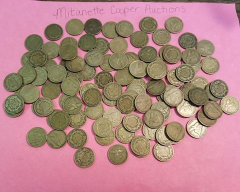 Estate Collection of 91 Old Flying Eagle Pennies