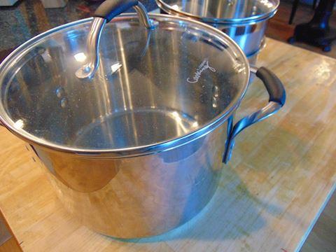 Calphalon and Sur La Table stainless pots