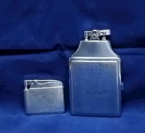 Vintage Ronson Lighters,one with Cigarette Case