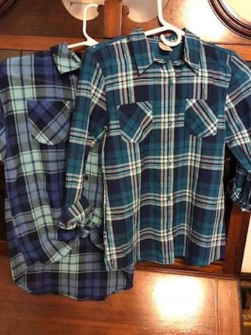 2 new girls shirts , Arizona Jeans L14 & M10/12