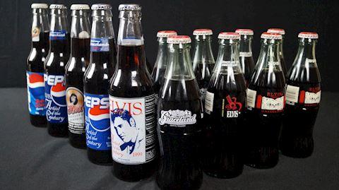 Lot #25 Elvis Soda Bottles