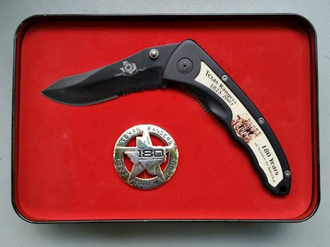 Smith & Wesson Texas Rangers Knife/Badge set