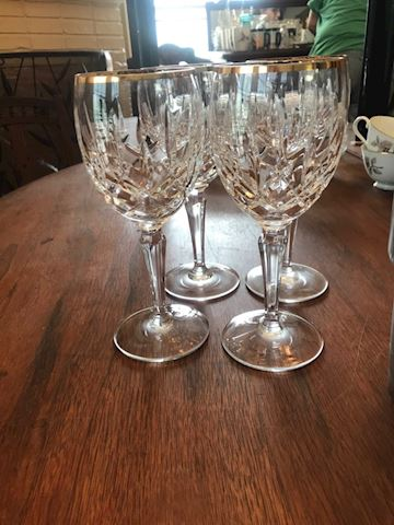 Lady Anne gold wine goblets