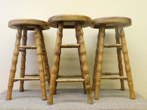 3 Oak Barstools