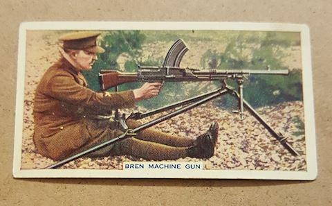 Old 1930's Bren Machine Gun Cigarette Card