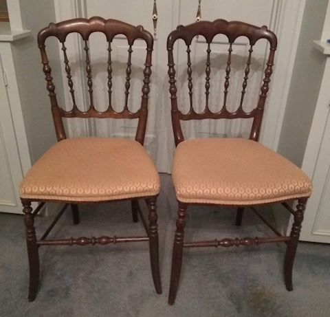 """MB  307 X 2  """"A Pair of Parlor Chairs"""""""