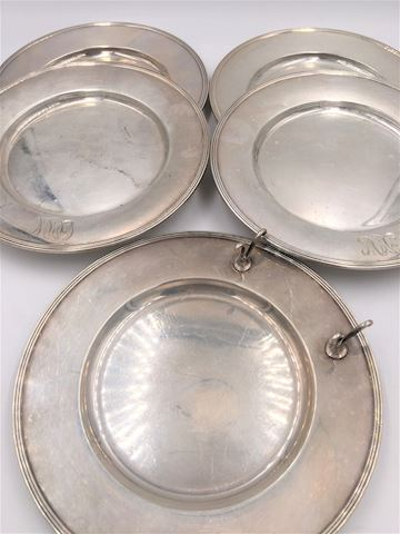 Lot of 4 Gorham Sterling Plates & Butter Plate