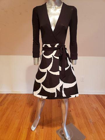 Diane von Furstenberg Amelia wrap signed dress