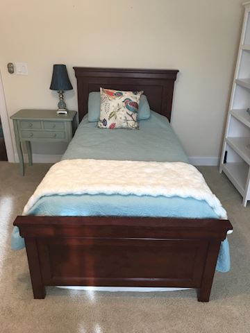 Cherry wood twin bed