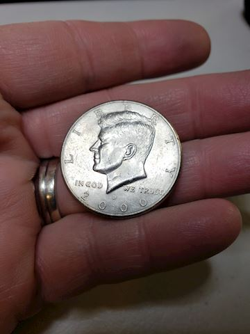 1-'2000' JFK Half Dollar single coin Denver Mint
