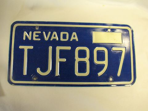 1970s Nevada License Plate