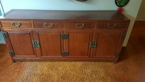 3 pc set, Solid Rosewood Buffet and 2 End Tables