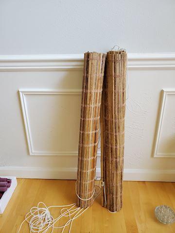 "2 Bamboo shades 33"" wide"