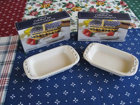 Miniature Baking Dish, PAIR