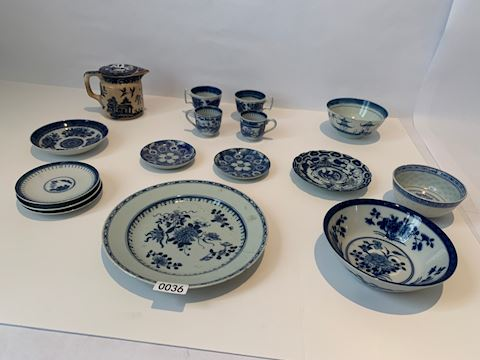 Lot 0036 Assorted  Blue & White Yuan