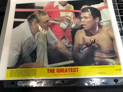 Autographed Ali movie lobby card