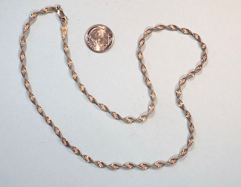 Fancy Twist Sterling Silver Chain Necklace