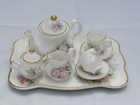 Collectible Crown Victorian Teaset, Staffordshire
