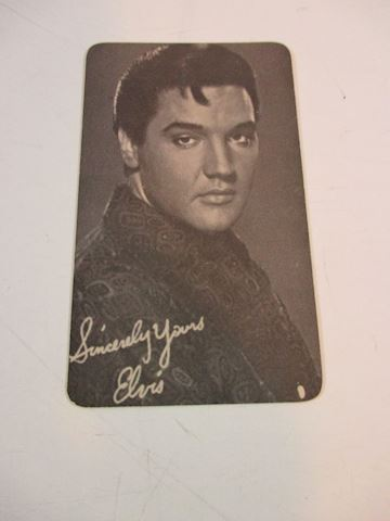 1968 Elvis Signed Calendar Card