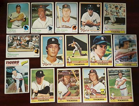 15 Old Detroit Tigers Baseball Cards