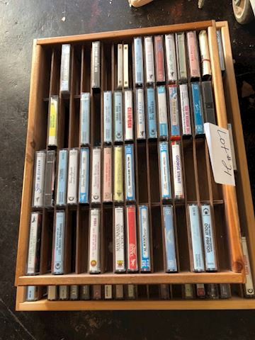 Vintage Cassette Lot with Racks - Lot 21