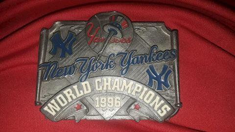 NY Yankees Belt Buckle